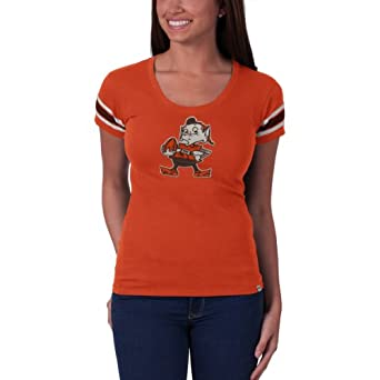 NFL Cleveland Browns Ladies Off Campus Scoop Neck Tee by