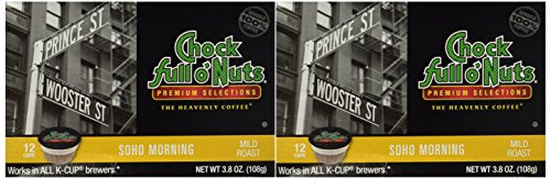 Choc Full o'Nuts Soho Morning Coffee K-Cups 12 CT - Pack Of 2 (Chock Full O Nuts Coffee Cup compare prices)