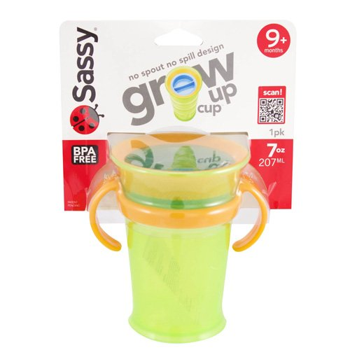 Sassy Grow Up Cup No Spill, No Spout Design 7Oz - 9 Months front-114037