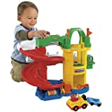 Dazzling World of Little People Racing Ramps Garage - Cleva Edition ChildSAFE Door Stopz Bundle