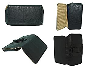 Totta Universal Pu Leather Belt Pouch For Haier V4, Black