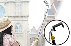 Looq G True Wired-remote Shutter for Self Portrait Selfie Handheld Stick Monopod with Adjustable Phone Holder, No Bluetooth Matching, No Battery, No WiFi, No Limit Button Use, High Speed Shutter Response Time and Extendible Telescoping Selfie Pole for Android and iOS Smartphones(Samsung, HTC, Sony, iPhone etc.)