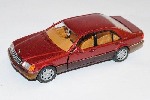 Mercedes-Benz S-Klasse 600SEL Rot Limousine W140 1991-1998 1/43 Corgi Modell Auto