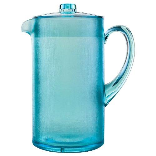 New Navigate Aqua Blue Plastic Summer Picnic Bbq Drinks Serving Pitcher 2 Lt Jug