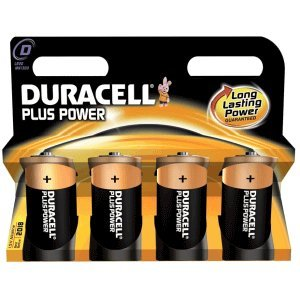 12 x Pile duracell plus power mono lR20 lot de 4