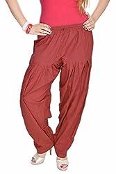 Jaipur Kala Kendra Women's Cotton Indian Patiala Salwar Pants Casual Trouser Wear Medium Maroon