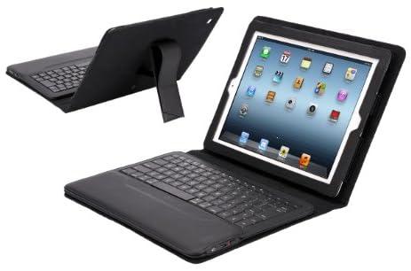 【IPEVO ダイレクト】IPEVO Typi 新しいiPad(iPad3),iPad2用 スタンド機能付カバー&Bluetoothキーボード ブラック Folio case + wireless keyboard for the new iPad and iPad 2 - Black