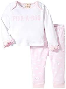 kate spade york Pink-A-Boo Two-Piece Lounge Set, Sheep/Cloud Print