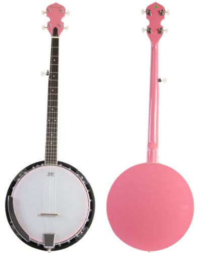 Pink 5 String Jameson Banjo With Geared 5Th Tuner & Closed Back