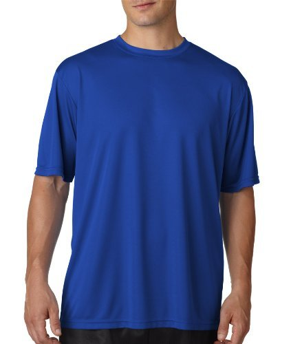A4 Men's Cooling Performance Crew Short Sleeve T-Shirt, Royal, Small