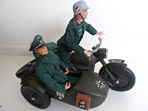 vintage action man german soldier 1964 painted head with vintage action man german officer wth. Black Bedroom Furniture Sets. Home Design Ideas