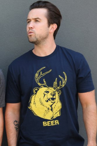 Mac's BEER T-Shirt, Large (Blue) (Beer Bear compare prices)