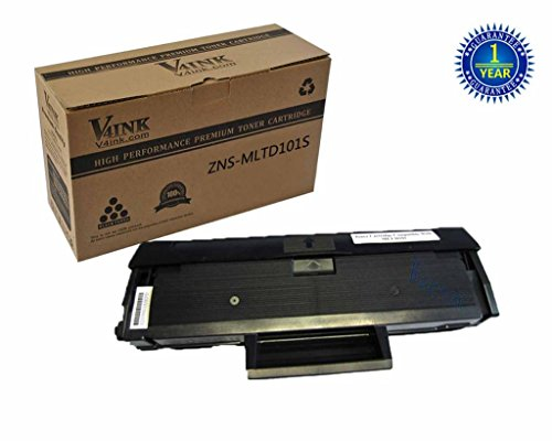 V4INK® 1 Pack New Compatible Samsung MLT-D101S Toner Cartridges 1500 Page Yield for Samsung ML-2160 Samsung ML-2161 Samsung ML-2162 Samsung ML-2165 Samsung ML-2166 Samsung SCX-3400 Samsung SCX-3406W Samsung SCX-3406HW Samsung SCX-3401 Samsung SCX-3401FH Printers