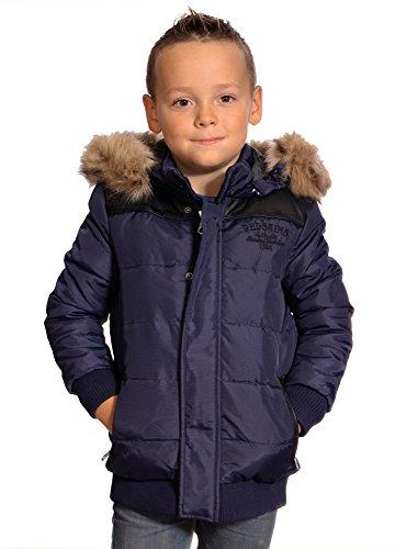 Redskins bambini-Piumino con cappuccio, a 3/4, colore: blu, motivo inverno 2016, da ragazzo blu 16 anni