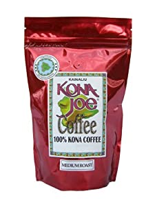 Kona Joe Coffee Kainaliu Medium Roast, Ground, 2-Ounce Bags (Pack of 4)