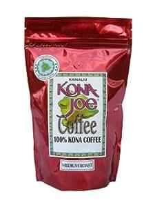 Kona Joe Coffee Kainaliu Medium Roast, Ground, 8-Ounce Bag
