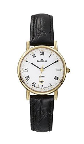 Dugena CLASSIC 4460366 - Reloj de mujer de cuarzo, correa de piel color negro