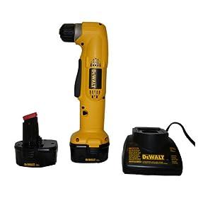 DEWALT DW965K-2 12-Volt NiCad 3/8-Inch Cordless Right Angle Drill/Driver Kit