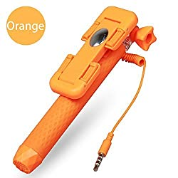Sourcewell - icanny Super Mini Pen Size Wired Selfie Stick Orange