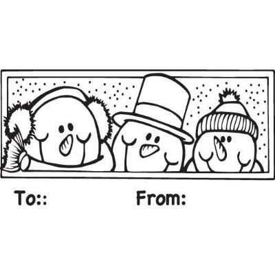 6 Pack SNOWMEN TO/FROM STAMP Papercraft, Scrapbooking (Source Book)