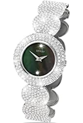 Seksy Wrist Wear by Sekonda Women's Quartz Watch with Mother of Pearl Dial Analogue Display and Silver Coloured Bracelet 4895.37