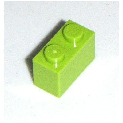 Lego Parts: 50 Bright Green Bricks 1x2 - 1
