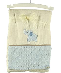 "Kyle & Deena ""Royal Elephant"" Plush Blanket - blue, one size"