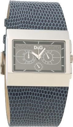 Dolce Gabbana - DW0122 - Montre Mixte - Quartz - Analogique - Bracelet Cuir Noir