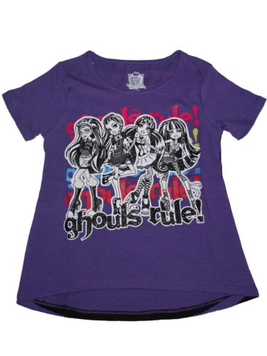 Monster High Rule Girls Front and Back T-shirt
