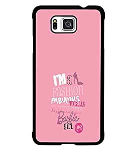 PrintDhaba Barbie Girl Quote D-1006 Back Case Cover for SAMSUNG GALAXY ALPHA (Multi-Coloured)