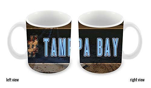 BleuReign(TM) Hashtag Tampa Bay #TampaBay Baseball Team 11oz Ceramic Coffee Mug