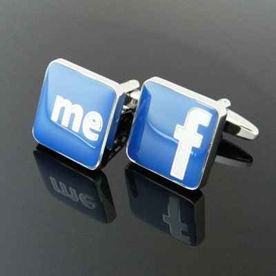 フェイスブック Facebook カフス(カフスボタン・カフリンクス)n00846