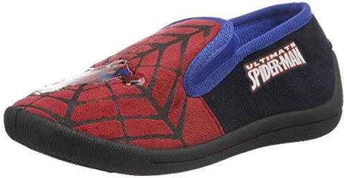 SpidermanBoys Kids Slipon Houseshoes - Ciabatte non imbottite Bambino , Blu (Blau (Red/Blk/Cbl 489)), 28
