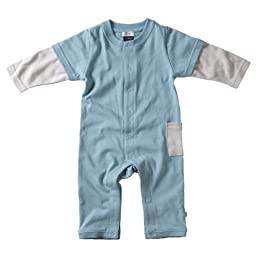 Babysoy Layered One Piece , Ocean 0-3 Months