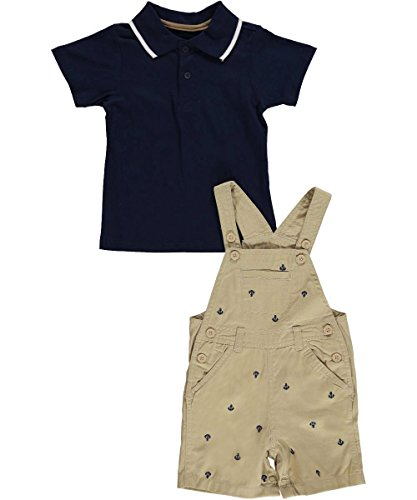"Boyz Wear Baby Boys' ""Anchor Detail"" 2-Piece Outfit - beige, 18 months"