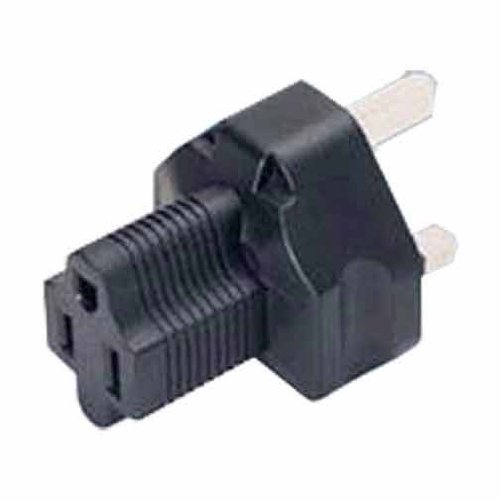 SF Cable, 3 Prong Plug Adapter,USA NEMA 5-15R Receptacle to Fused UK (BS1363)