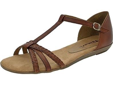 tamaris damen sandalen nut sandalette braun. Black Bedroom Furniture Sets. Home Design Ideas