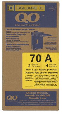 Square D Main Lug Load Center 70 Amp 2 Space Boxed
