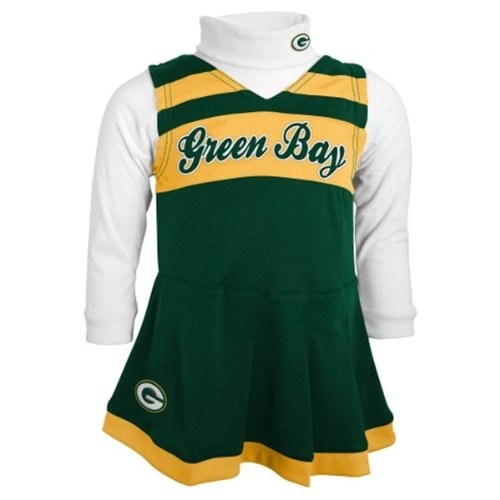 Green Bay Packers Toddler (2T-4T) Turtleneck & Cheerleader Dress Set (3T) at Amazon.com