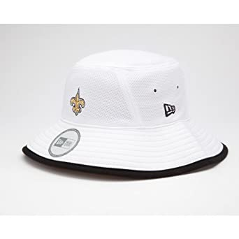 NFL New Orleans Saints Training Camp Bucket Hat, White, One Size Fits All by New Era