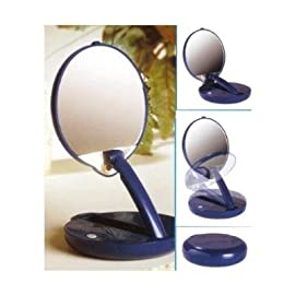 Floxite Lighted Adjustable 15X Travel Mirror Compact