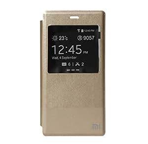 Kapa Window View Leather Flip Cover Case for Xiaomi Mi4 - Gold