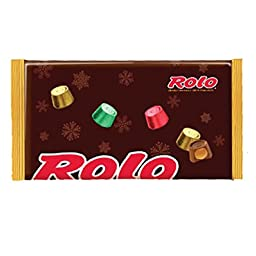 Rolo Holiday Chewy Caramels in Milk Chocolate, 11-Ounce Bags (Pack of 2)