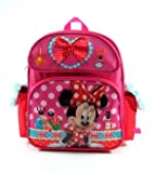 Minnie Mouse - 12 Toddler Size Backpack with Double Front Pockets - Make Up