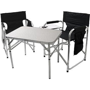 3tlg. Campingmöbel-Set Balkonmöbel Aluminium Garnitur Gartengarnitur ...