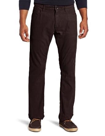 eed44de4 IZOD Men's Saltwater 5-Pocket Straight Fit Corduroy Pant, Big Brown, 34x30