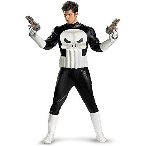 GSG Punisher Costume Adult Hero Mens Halloween Fancy Dress (Master Chief Gloves)