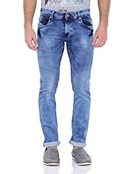Bandit Solid with Styling Medium Blue Jeans 30