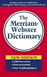 Cover of &quot;Merriam Webster Dictionary&quot;