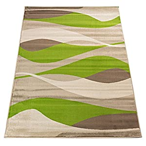 Sincerity Modern Green Rug Rug Size: 80 cm x 150 cm (2.62 ft x 4.92 ft) by Flair Rugs